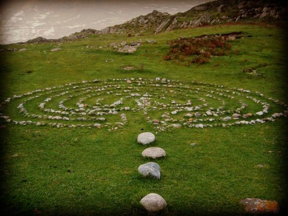 Labyrinth at Columba's Bay, Iona Scotland